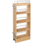 Wood Pull Out Wall Cabinet Organizer, 8 X 10-3/4 X 26-1/4 in Adjustable Shelves