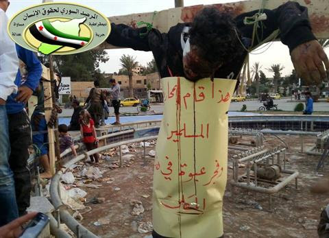 Islamist Extremists Publicly Crucify Two Syrian Rebels
