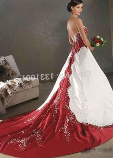 Red and white plus size wedding dresses   PlusLook.eu