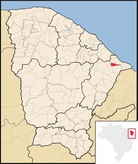 Localização de Itaiçaba