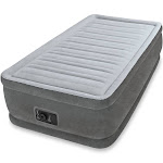 Intex 64411E Comfort Dura-Beam Elevated Twin Air Mattress with Built-In Pump by VM Express