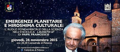 """""""Emergenze Planetarie e Hiroshima Culturale"""", conferenza con  Antonino Zichichi"""