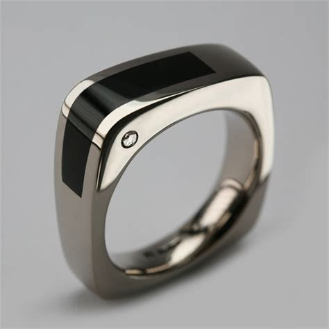 Bespoke Men's Ring   White Gold & Onyx   Stephen Einhorn