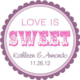 Custom Wedding Favor Stickers Love Is Sweet Personalized