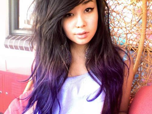Lila Spitzen Haare