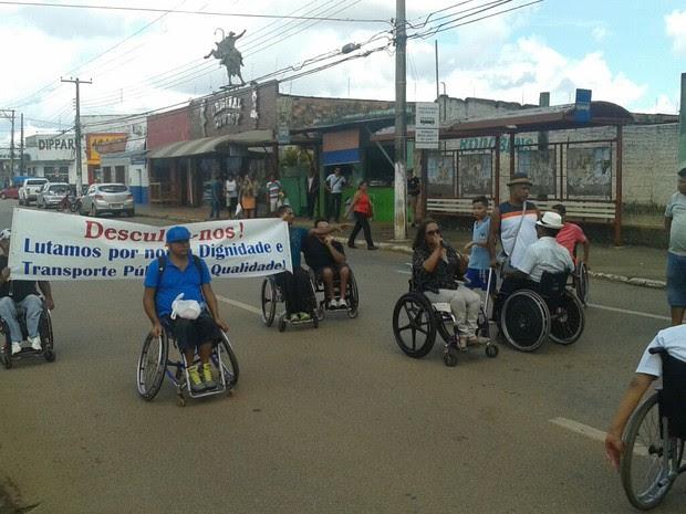 Cadeirantes farão outra manifestação na Avenida Sete de Setembro (Foto: Arthur Nogueira/ Arquivo Pessoal)