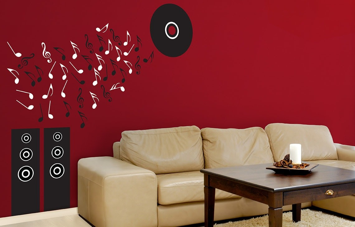 Musical Rhythm Asian Paints Wall Fashion Stencil Buy Online