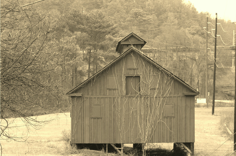 This barn is located on the outskirts of Cartersville, headed towards Emerson on Hwy 293. It is adjacent to the Etowah River, which lies to the right of the barn.   This barn is painted red, but I added a sepia filter to the photograph to give it a more rustic feel.
