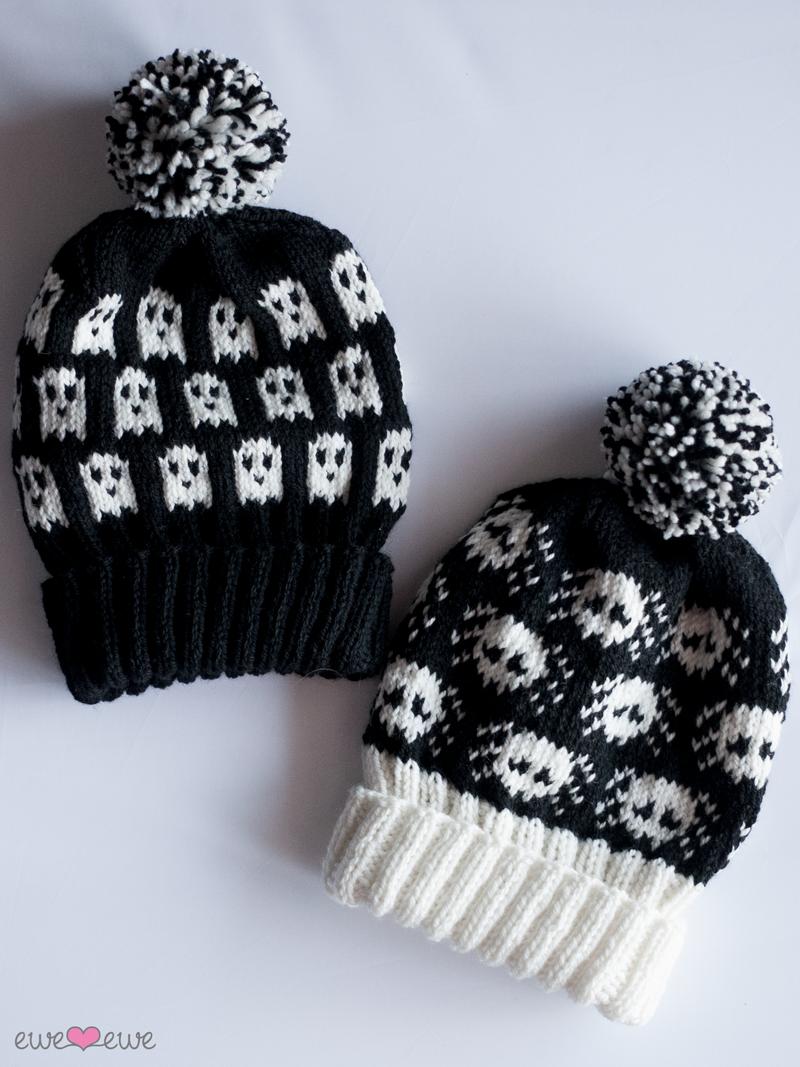 Ghosts + Widows Halloween Hats PDF Knitting Pattern — Ewe Ewe Yarns