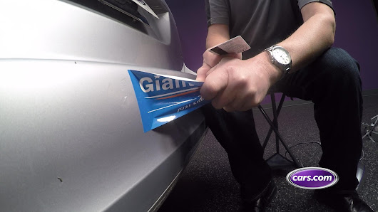 Driving Smart: Sticker Removal