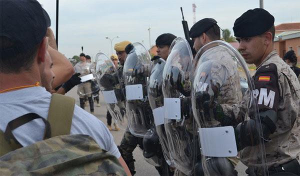 Ejercicio 'Ángel Guardián' de las unidades de Policía Militar.