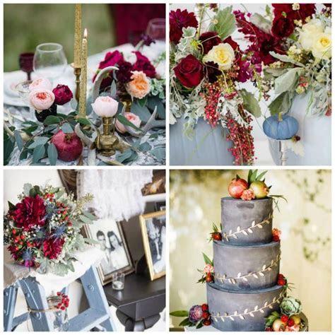 Autumnal elegance ? a cranberry & dusty blue wedding theme