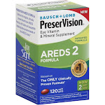 Bausch & Lomb PreserVision Areds 2 Eye Vitamin and Mineral Soft Gels - 120 count