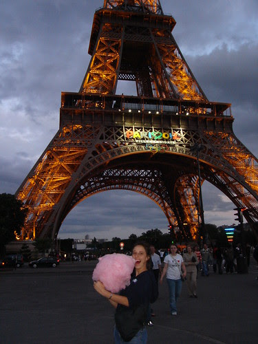 Cotton Candy in front of the Eiffel Tower