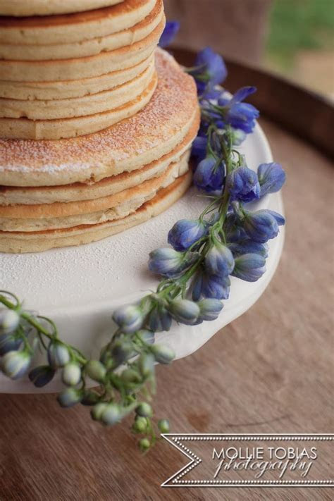 think outside the box. Pancake wedding cake for a casual