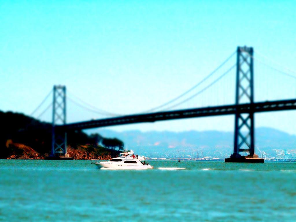 bay bridge, boat