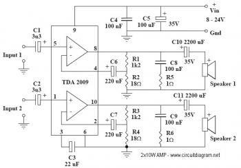 Tda7294 Subwoofer Amplifier Circuit Diagram - Pcb Circuits
