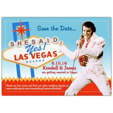 Save the Date Elvis Vegas Wedding   PaperStyle