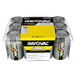 Rayovac Ultra Pro Alkaline Batteries D 12 Pack