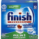 Finish All In 1 Powerball Dishwasher Detergent Tablets - 32 count, 22.6 oz box