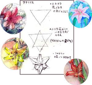 花のブログ 百合の形描き方 塗り絵 塗り絵で癒し 風景画 花の絵