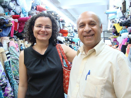 A sewing blogger rite of passage--a photo with Kashi at Metro Textiles