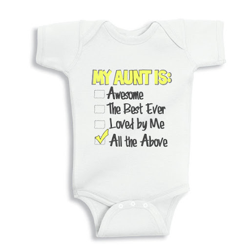 811dabf96 My Aunt is Awesome, the best ever and loved by me baby onesie or Infant T- Shirt Click here for more details and order it