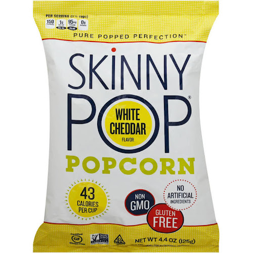 Skinny Pop White Cheddar Lite Popcorn - 4.4 oz packet