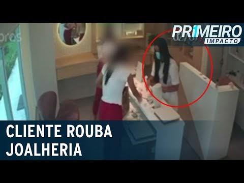 Vídeo: Armada, cliente rende funcionárias e assalta joalheria em Recife