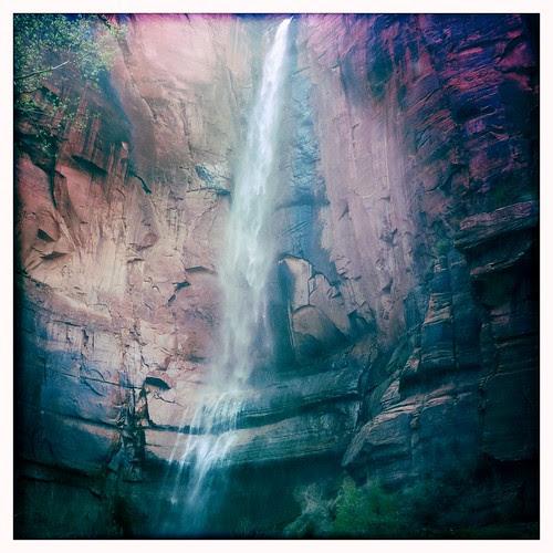 Zion - River Walk waterfall