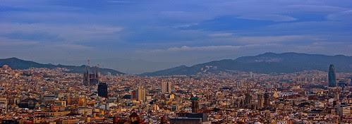 Barcelona city panorama