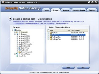 Internet Backup Software