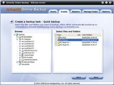Internet Backup Software