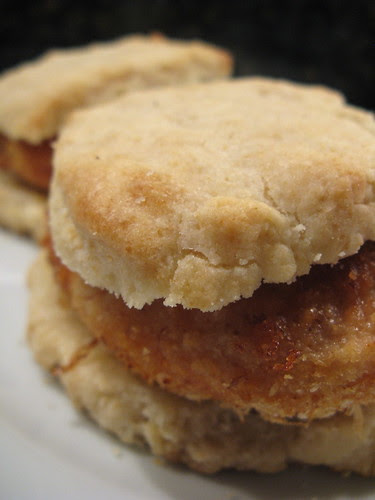 faux fried chicken & biscuits