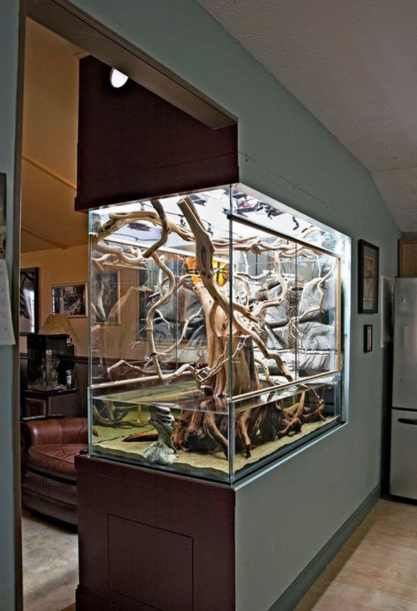 22 Spectacular Room Dividers With Modern Aquarium Homemydesign