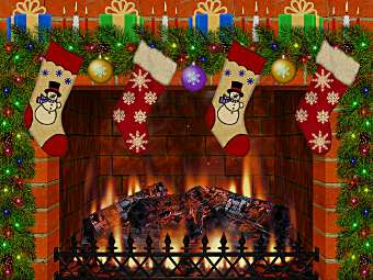 Free Christmas Fireplace Screensaver Download for Windows 7/