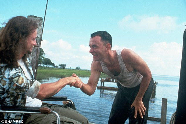 Key relationship: Forrest and Lt Dan when they work together at the Bubba Gump Shrimp Company