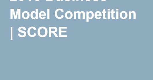 2016 Business Model Competition