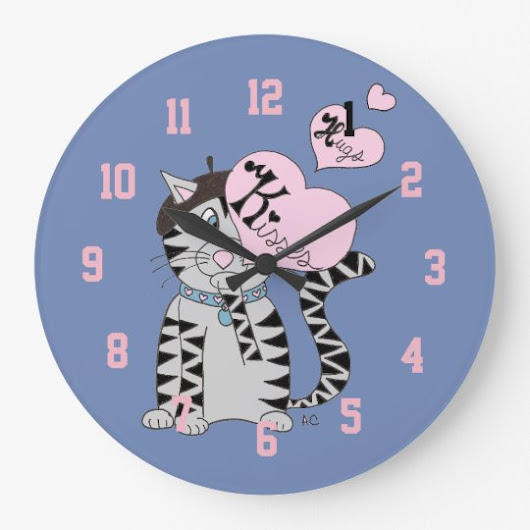 French cat veterinarian's office clock