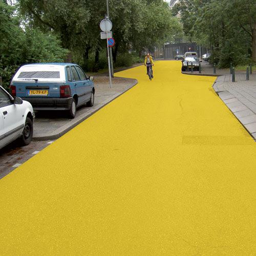Perierga.gr - Ο κίτρινος δρόμος προς την ευημερία