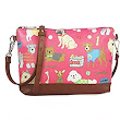 Small Fuchsia Pink Oilcloth Waxed Cross Body bag Dog Print: : Shoes & Bags