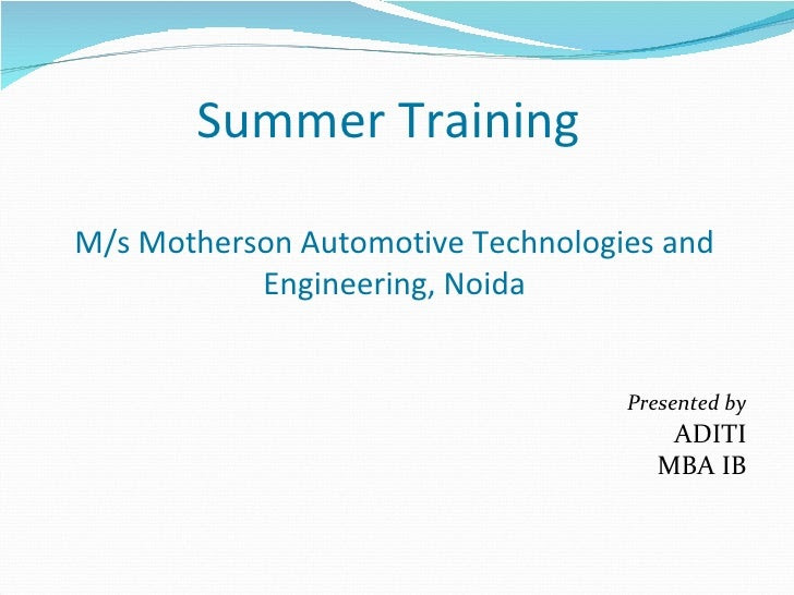 Summer project ppt
