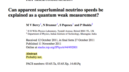 This may be the best scientific paper abstract ever written