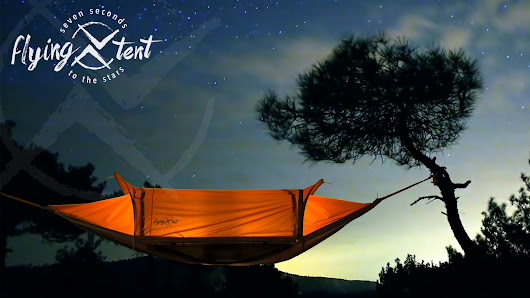 flying tent - 7 seconds to the stars