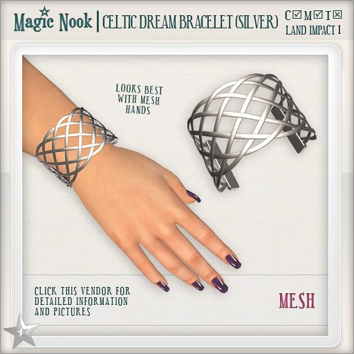 [MAGIC NOOK] Celtic Dream Bracelet (Silver) MESH