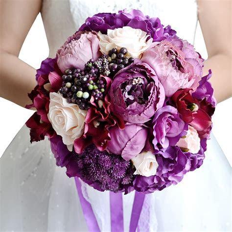 Online Get Cheap Purple Wedding Bouquets  Aliexpress.com