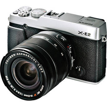 Fujifilm X-E2 Mirrorless Digital Camera with 18-55mm Lens (Silver)