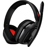 ASTRO A10 Over-Ear Headset - Uni-Directional - Red/Gray