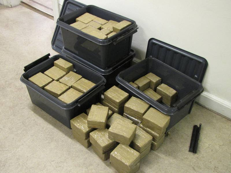 Hash i store mængder står højt på de kriminelles ønskeliste. (foto: Politifoto)