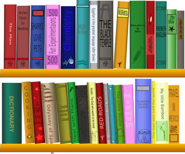 Books On Shelf Clip Art At Clkercom Vector Clip Art Online